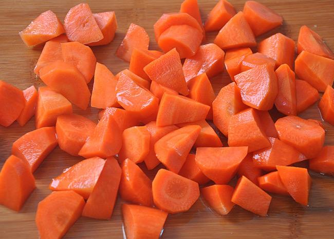胡萝卜乱切